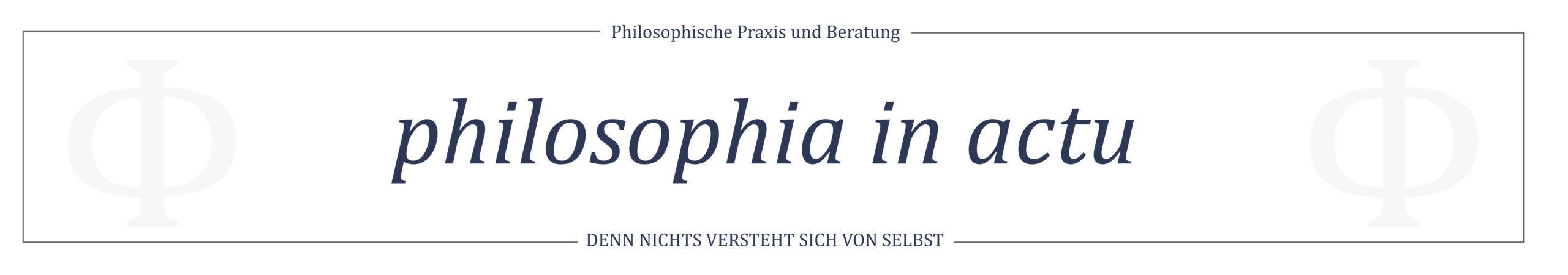 philosophia in actu